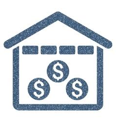 Money Depository Grainy Texture Icon vector image