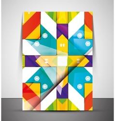Multipurpose CMYK geometric print template vector