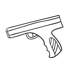 Paintball hand gun icon in outline style isolated vector