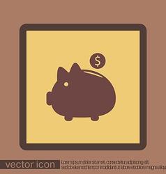 Piggy bank symbol of money vector