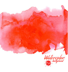 Red watercolor background for textures and vector