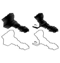 Rio san juan department republic nicaragua vector