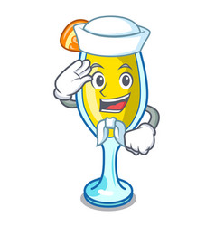 Sailor mimosa character cartoon style vector