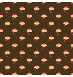 Seamless cupcake pattern texture or background vector image