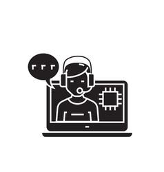 service specialist black concept icon vector image