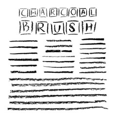 Set of grunge charcoal brush strokes for your vector