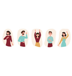 Set of happy people vector