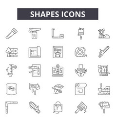 shapes line icons signs set linear vector image