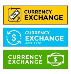 Signboard currency exchange vector
