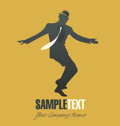 Silhouettes dancing jazz or swing-01 vector