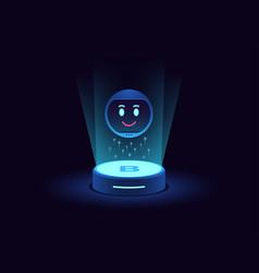 Smart chat bot virtual voice assistant mobile vector