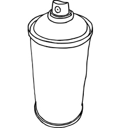 spray can hand drawn liquid line on white vector image