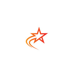 star shine logo vector image