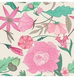Summer Pattern in Pale Colors vector image