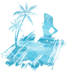 Summer watercolored background vector