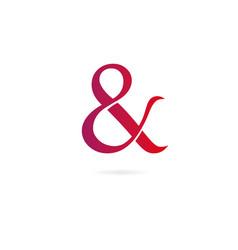 symbol amp logo design template elements vector image
