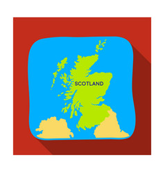 Territory of scotland icon in flat style isolated vector
