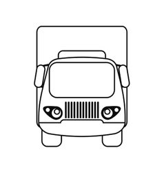 truck small cargo transportation outline vector image