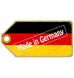 Vintage label with the flag of germany vector