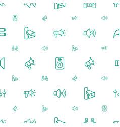 volume icons pattern seamless white background vector image