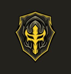 warrior shield vector image