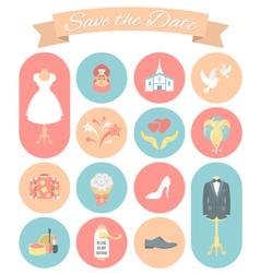 Wedding Icons Round Set 2 vector image vector image