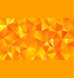 yellow and orange trendy low poly backdrop vector image