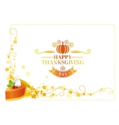 Autumn thanksgiving background text vector image vector image