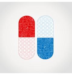 Medicine a tablet vector image vector image