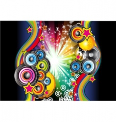 music background for disco flyers vector image vector image