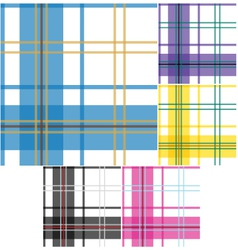 seamless check fabric pattern vector image vector image