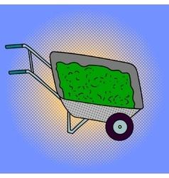 Wheelbarrow Pop art vector image