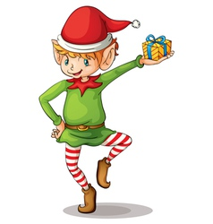 Christmas elf vector image vector image