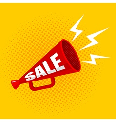 megaphone sale yellow vector image vector image