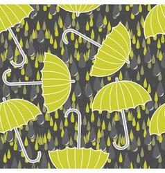 Umbrella and rain wallpaper vector image vector image