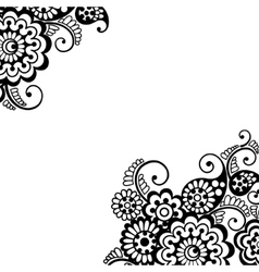 Flower ornament corner vector image