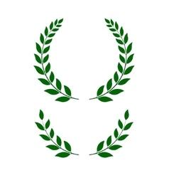 Green laurel wreaths - vector
