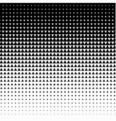 triangle halftone on white background vector image vector image