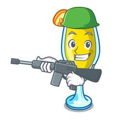 Army mimosa character cartoon style vector