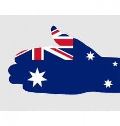 Australian handshake vector image vector image