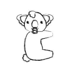 baby koala cartoon animal vector image