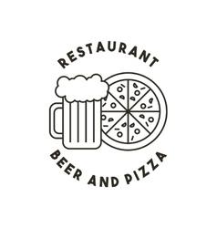 Beer and pizza restaurant menu vector