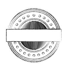 blurred silhouette heraldic circular shape stamp vector image