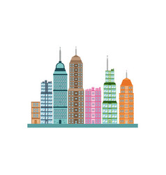 Building skyscrapers cityscape modern image vector