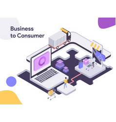 business to consumer isometric modern flat vector image