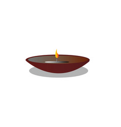 candle light symbol of happy diwali festival vector image