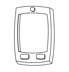 Cartoon cellphone icon vector
