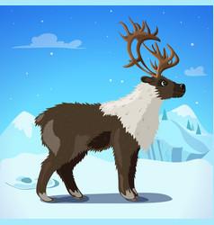 Cartoon colorful reindeer template vector