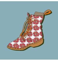Cartoon shoe vector image