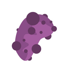 Cell virus icon flat style vector